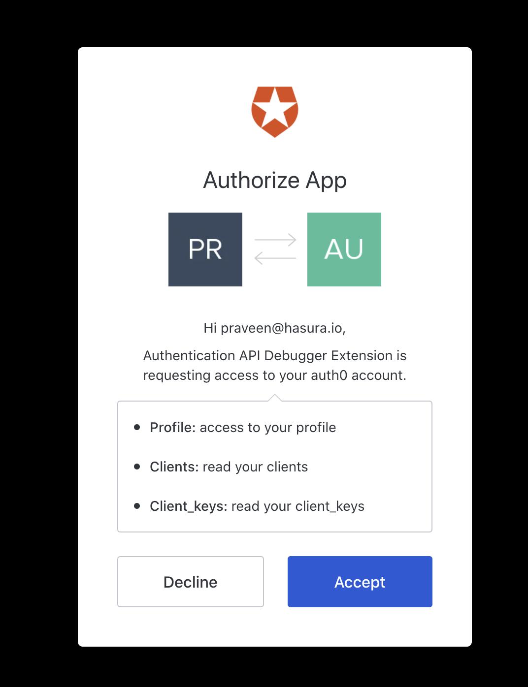 Authorize Auth0 App
