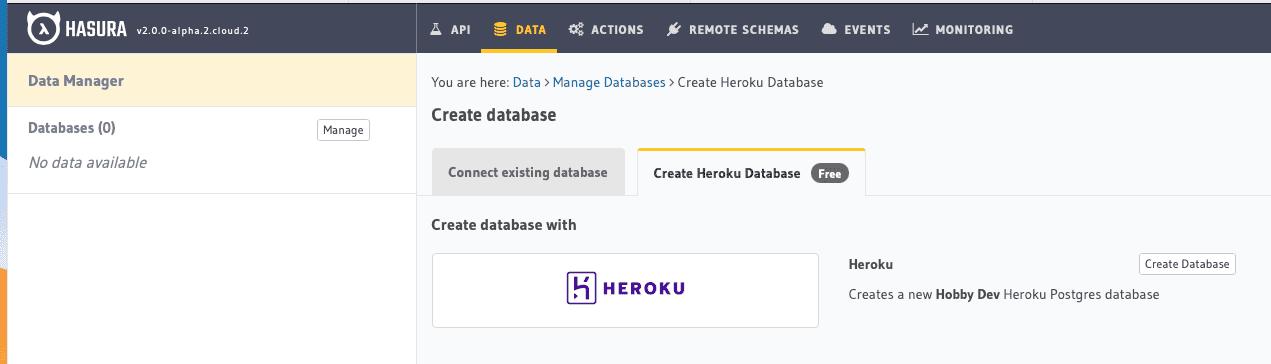 Create Heroku Database