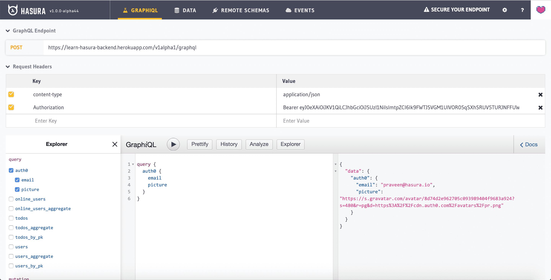 remote schema query